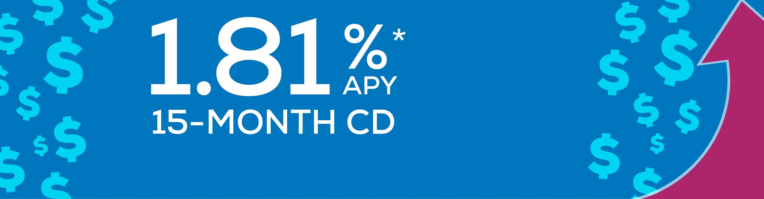 Earn 1.81% APY with our 15-month CD