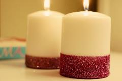 Glittery candle
