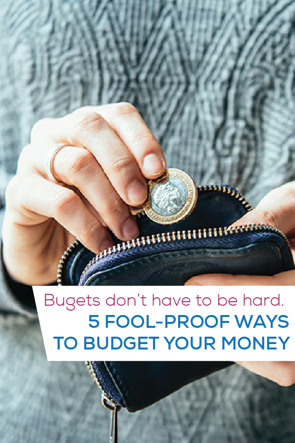 5 ways to budget your money pin