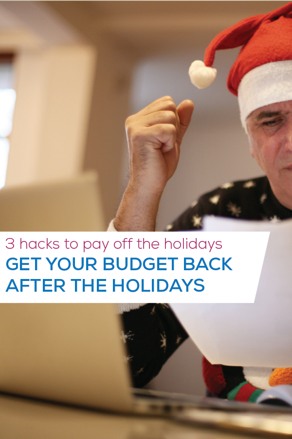get your budget back after holidays image for pinterest
