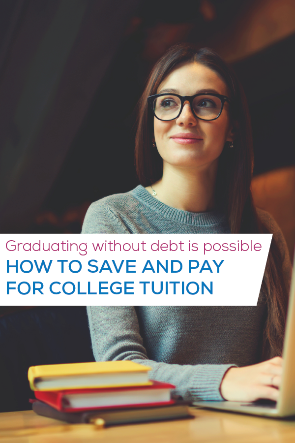 how to save for college image for pinterest