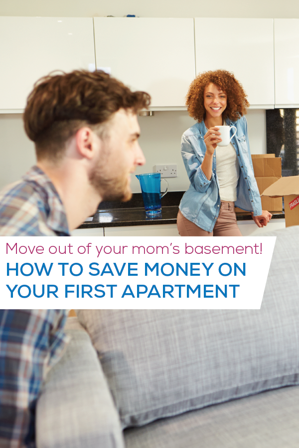 how to save on first apartment image for pinterest