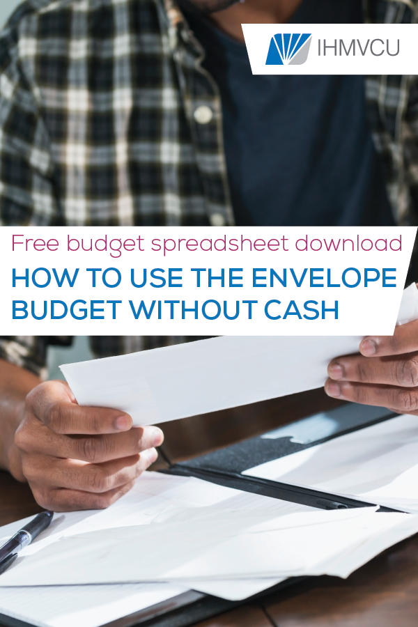 how to use the envelope budget without cash pin image