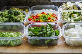 veggies prepared for money saving meal prep