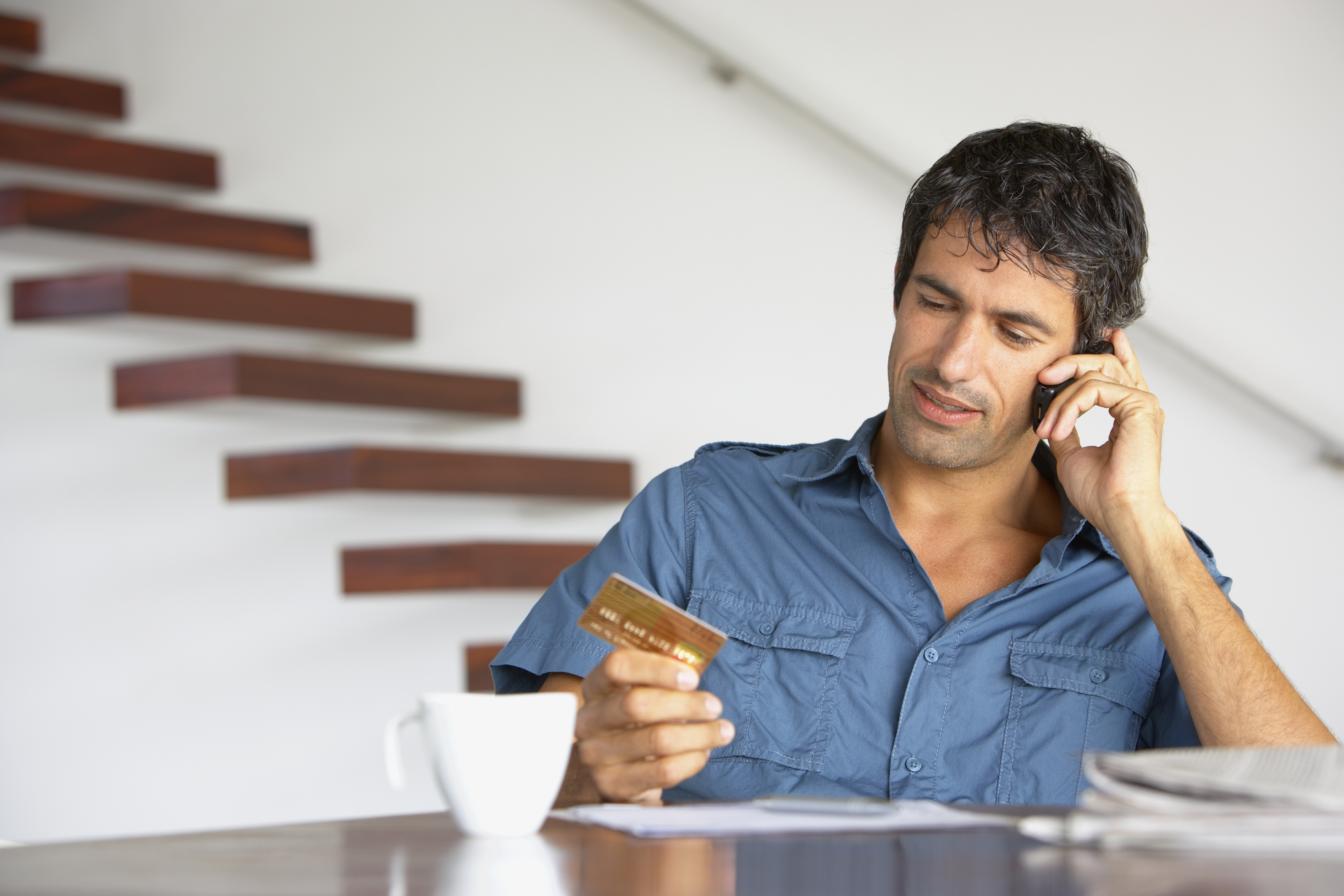 man calling about credit card